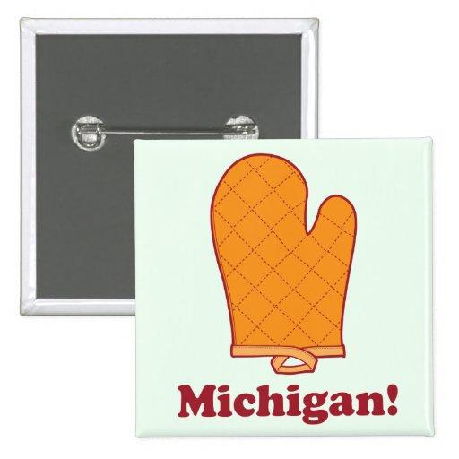 Michigan 2 Inch Square Button