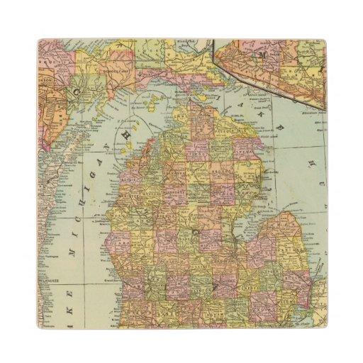 Michigan 3 wood coaster