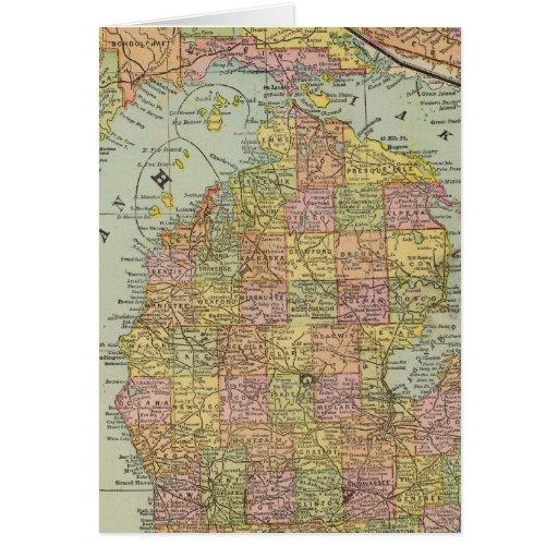 Michigan 3 tarjeta de felicitación