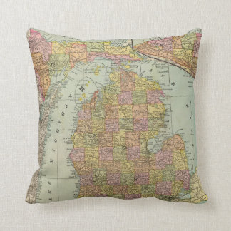 Michigan 4 throw pillow