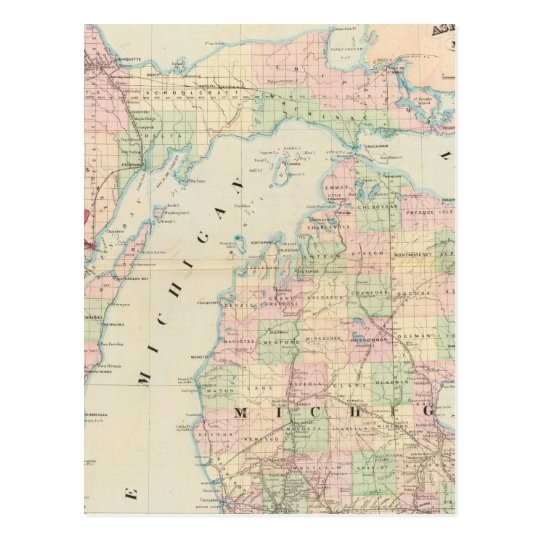 Michigan 7 postcard