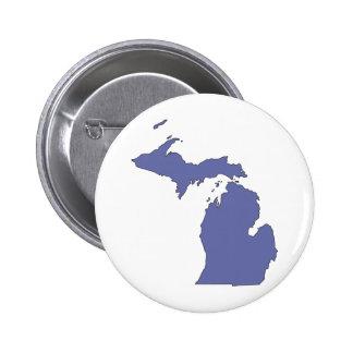 Michigan: A BLUE State Pinback Button