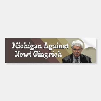 Michigan Against Newt Gingrich bumper sticker