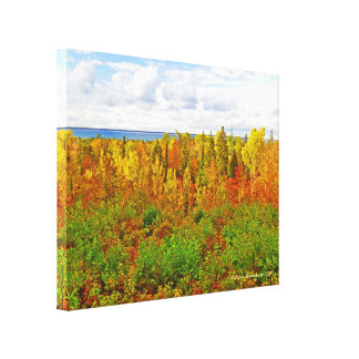 MICHIGAN AGLOW IN AUTUMN CANVAS PRINT