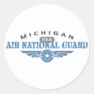 Michigan Air National Guard Classic Round Sticker