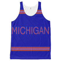 Michigan All-Over Printed Unisex Tank