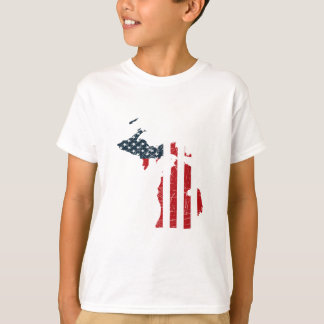 Michigan American Flag T-Shirt
