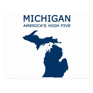 Michigan. America's High Five Postcard