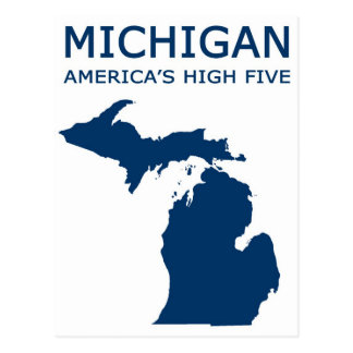 Michigan. America's High Five Postcard