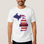 michigan and  flag t shirt
