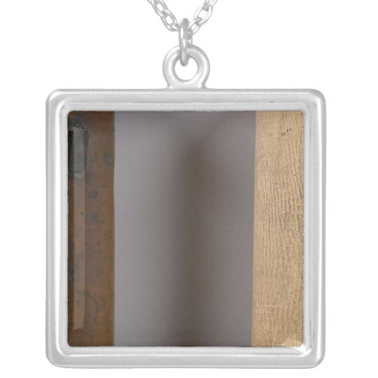 Michigan and Indiana Border Survey Silver Plated Necklace