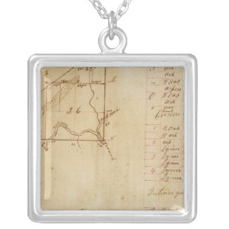 Michigan and Indiana Survey Personalized Necklace