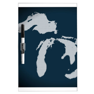Michigan and the Great Lakes Dry-Erase Board