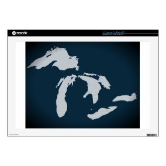 Michigan and the Great Lakes Laptop Decal