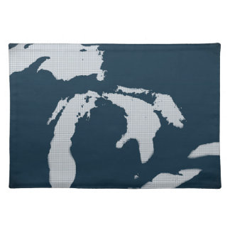 Michigan and the Great Lakes Cloth Placemat