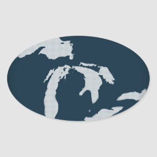 Michigan and the Great Lakes Oval Sticker