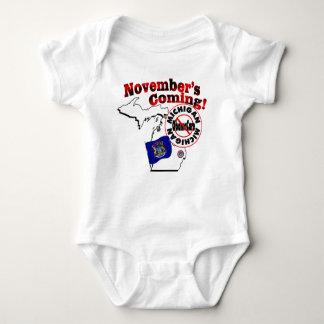 Michigan Anti ObamaCare – November's Coming! Baby Bodysuit