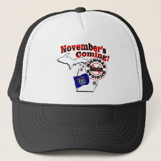 Michigan Anti ObamaCare – November's Coming! Trucker Hat