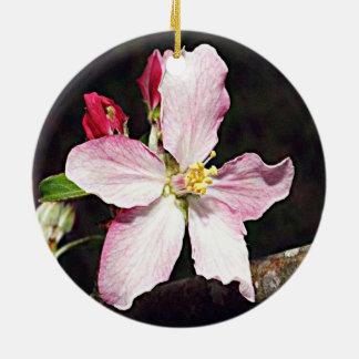 Michigan Apple Blossom Ceramic Ornament