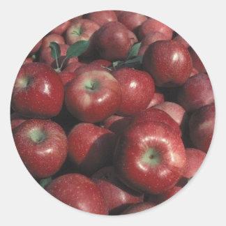 Michigan Apples Classic Round Sticker