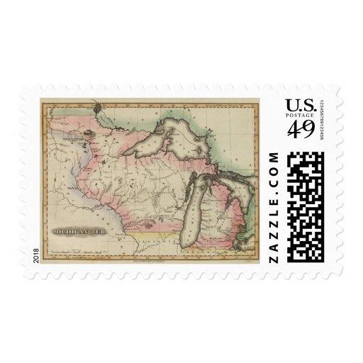 Michigan Area Postage Stamp