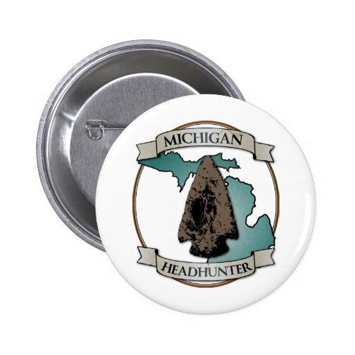 Michigan Arrowhead Hunter Pin