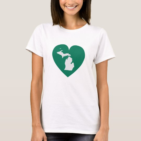 Michigan at Heart Green Fitted T-Shirt