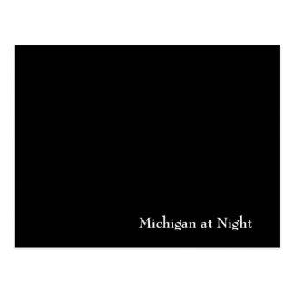 Michigan at Night Postcard
