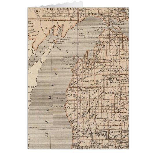 Michigan Atlas Map Card