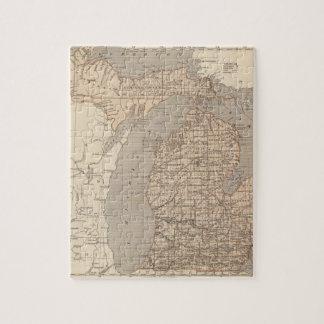 Michigan Atlas Map Jigsaw Puzzle