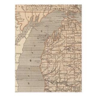 Michigan Atlas Map Postcard