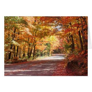 Michigan Autumn Card