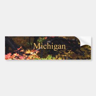 Michigan Autumn Maples Car Bumper Sticker
