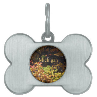 Michigan Autumn Maples Pet ID Tags