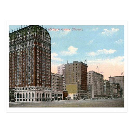 Michigan Ave., Chicago Vintage Postcard