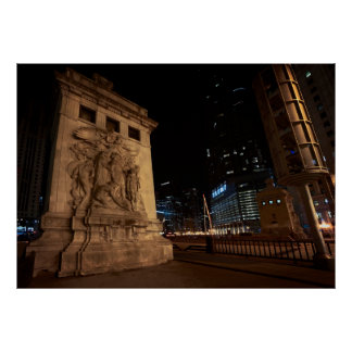 MICHIGAN AVENUE BRIDGE - CHICAGO POSTER