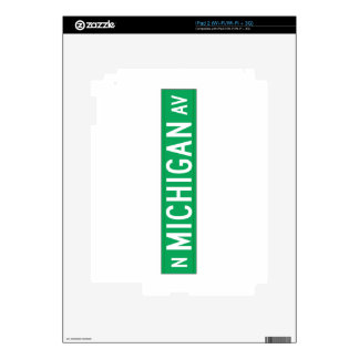 Michigan Avenue, Chicago, IL Street Sign Skin For The iPad 2