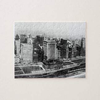 Michigan Avenue in Chicago (1911) Jigsaw Puzzle