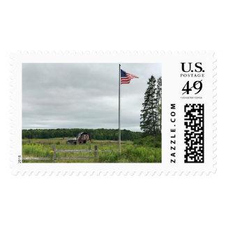 Michigan Barn Flag Stamps