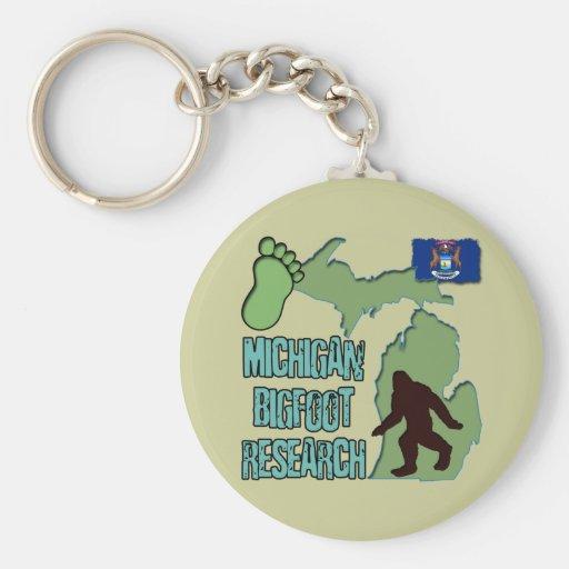Michigan Bigfoot Research Basic Round Button Keychain