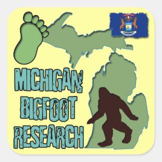 Michigan Bigfoot Research Square Sticker
