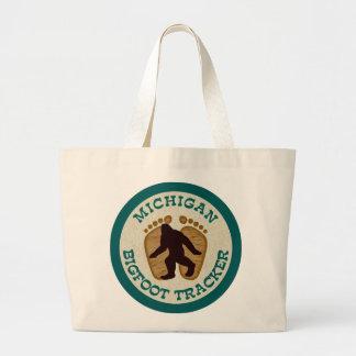 Michigan Bigfoot Tracker Canvas Bags