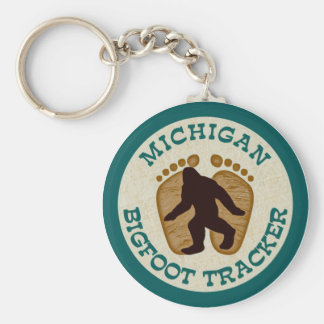 Michigan Bigfoot Tracker Keychain