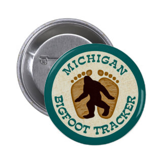 Michigan Bigfoot Tracker Pinback Button