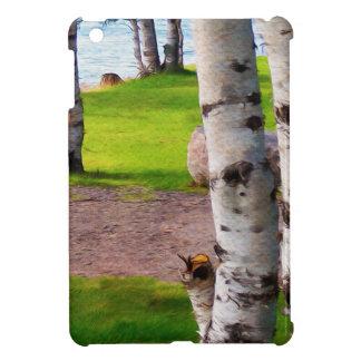 Michigan Birch Trees By Lake iPad Mini Cases