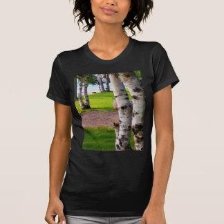 Michigan Birch Trees By Lake T-Shirt