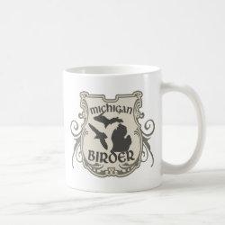 Classic White Mug with Michigan Birder design