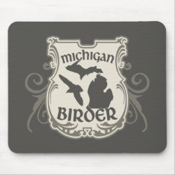 Mousepad with Michigan Birder design
