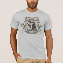 Michigan Birder Men's Basic American Apparel T-Shirt