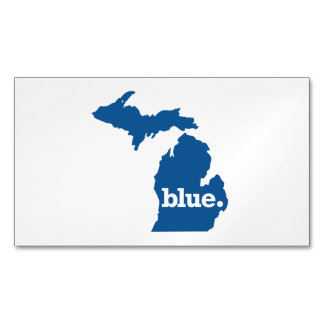 MICHIGAN BLUE STATE BUSINESS CARD MAGNET